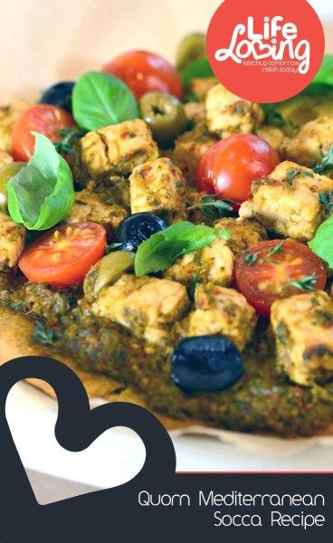 Quorn Mediterranean Socca Recipe on Life Loving Blog