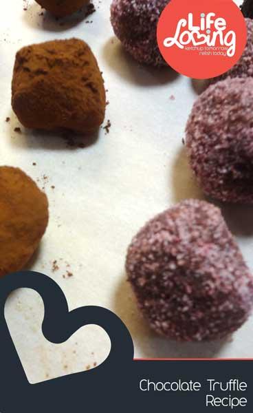 Chocolate Truffle Recipe by Life Loving Blog
