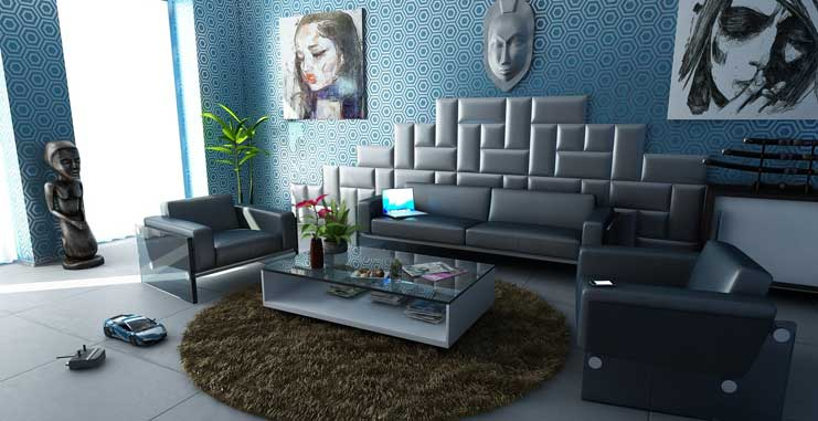 Creating an Easy to Clean Living Room