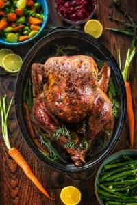 Low Carb Garlic Butter Roast Turkey