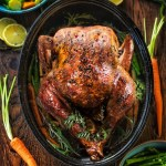 Low Carb Garlic Butter Roast Turkey in a Pan
