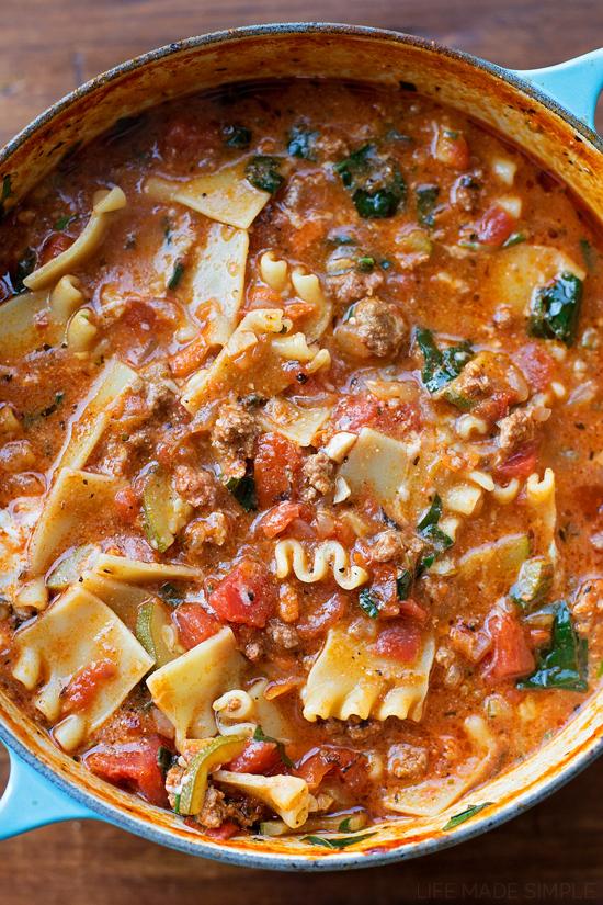Lasagna Soup   lifemadesimplebakes.com
