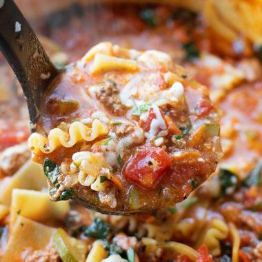 Lasagna Soup | lifemadesimplebakes.com