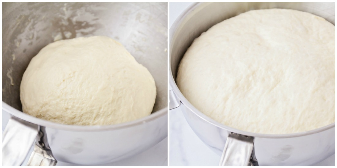 Homemade pizza dough for calzone recipe