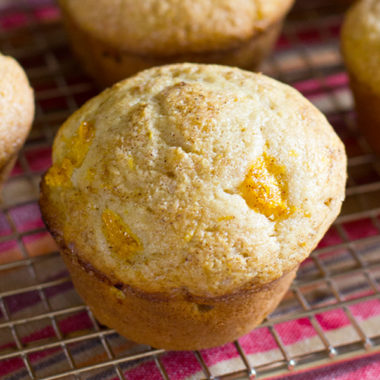 Bakery Style Peach Cobbler Muffins