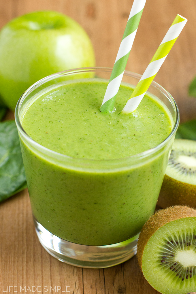 Tropical Green Monster Smoothie 1