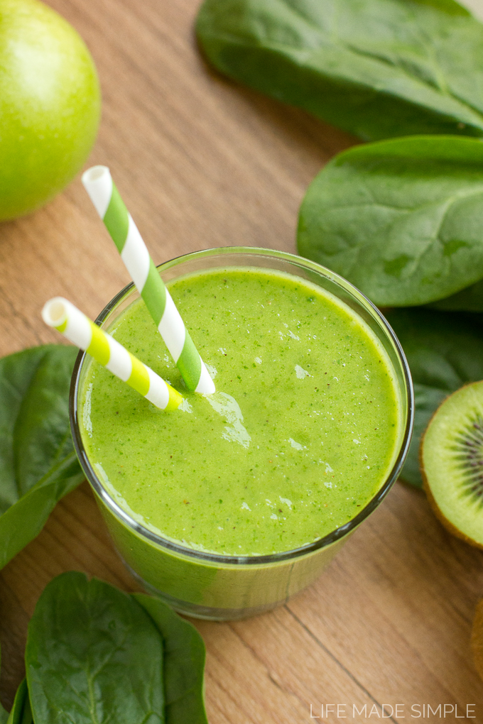 Tropical Green Monster Smoothie 2