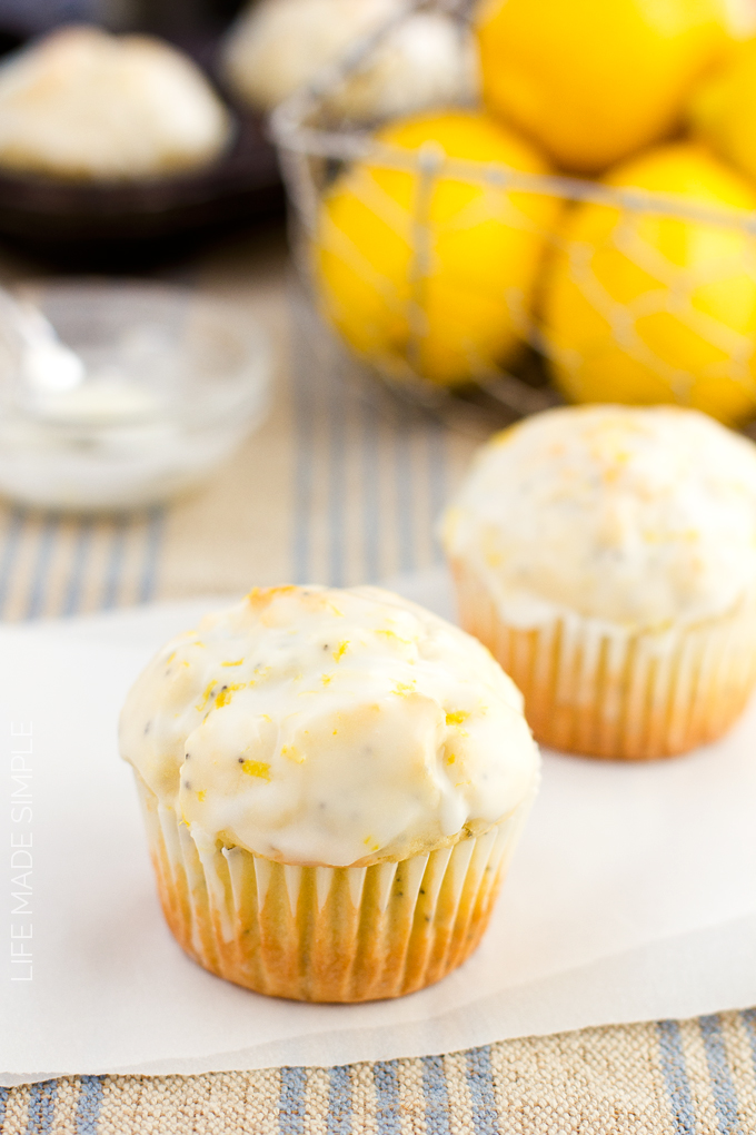 Lemon Coconut Poppy Seed Muffins