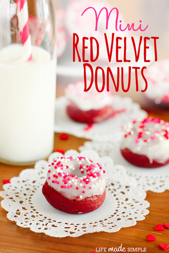 Mini Baked Red Velvet Donuts