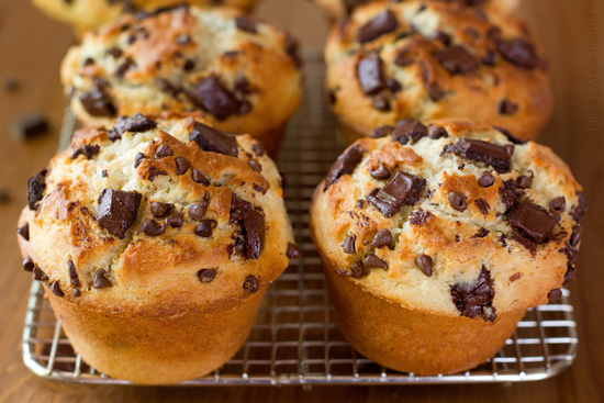 Jumbo Bakery Style Banana Chocolate Chunk Muffins