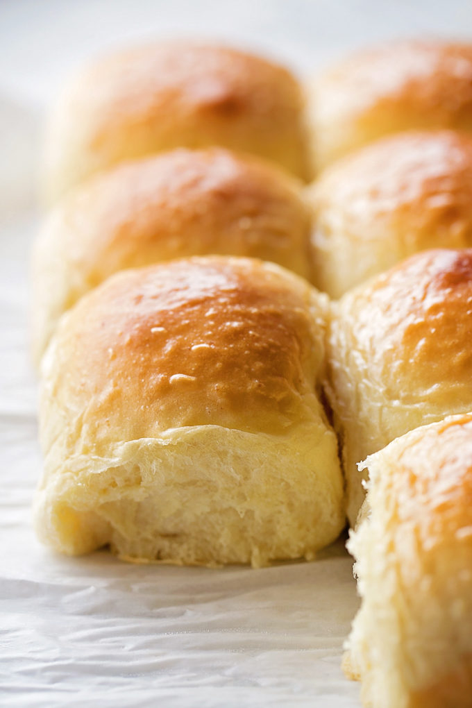 Close up of 1 Hour Dinner Rolls