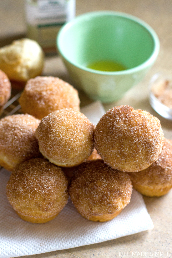 Mini Cinnamon Sugar Doughnut Muffins