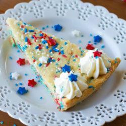 Patriotic Funfetti Sugar Cookie Cake