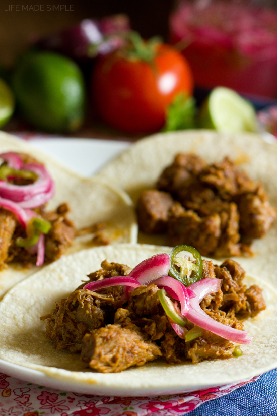 Stovetop Citrus Carnitas with Pickled Jalapeño and Red Onion