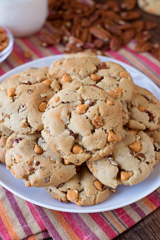 Brown Sugar Butterscotch Pecan Cookies