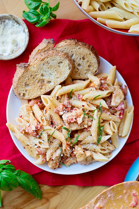 Creamy Sun-Dried Tomato Penne with Chicken