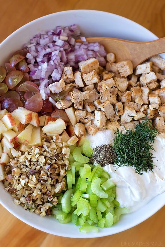 Autumn Chicken Salad Sandwiches