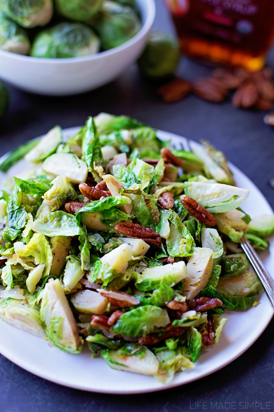 Maple Pecan Brussels Sprouts
