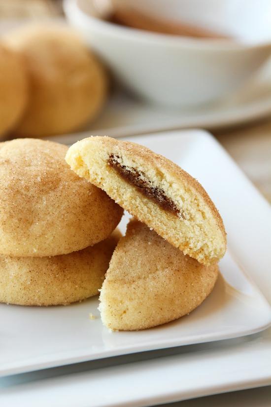 Biscoff Stuffed Snickerdoodles