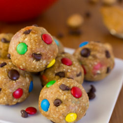 Monster Cookie Dough Energy Bites