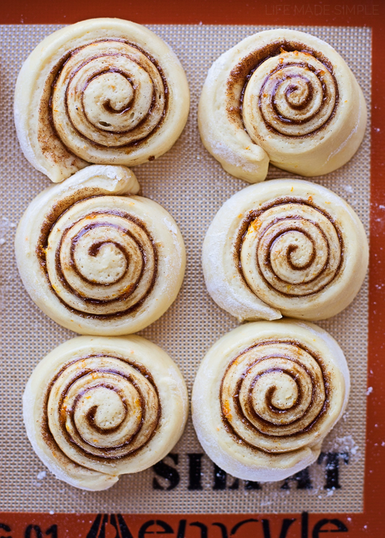 Sweet Rolls on a baking sheet