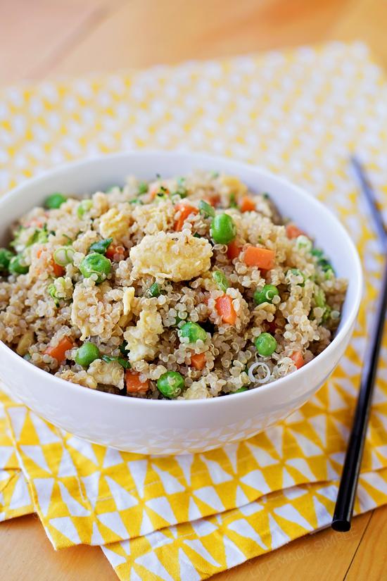 "Easy Quinoa ""Fried Rice"""