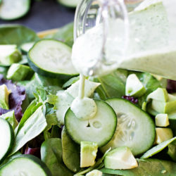 Healthy Greek Yogurt Green Goddess Salad