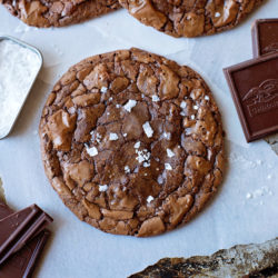 Flourless Salted Pecan Chocolate Cookies