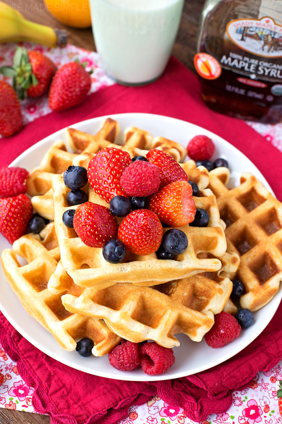 Homemade buttermilk waffles recipe