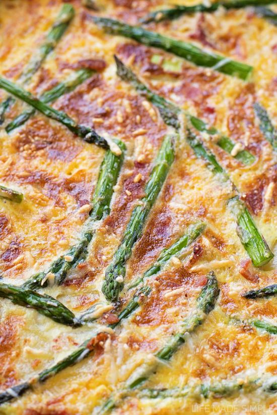 Asparagus Bacon Potato Frittata