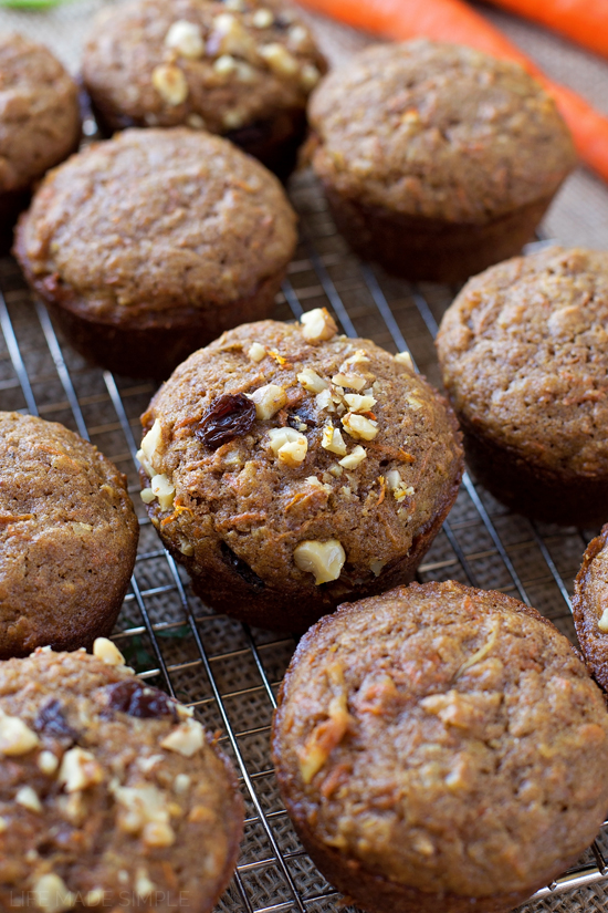 Healthier Carrot Cake Muffins