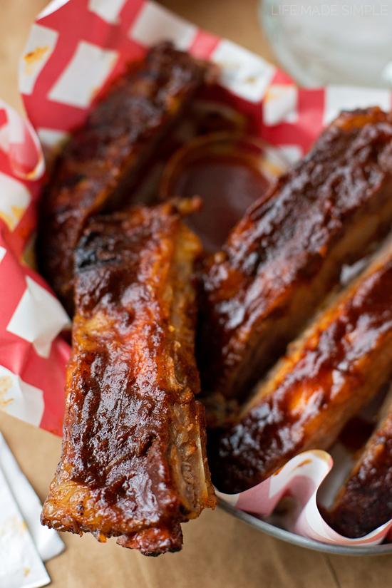 BBQ ribs made in the oven