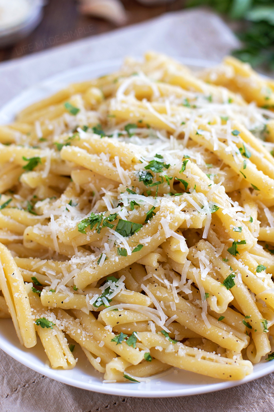 Garlic butter noodles recipe