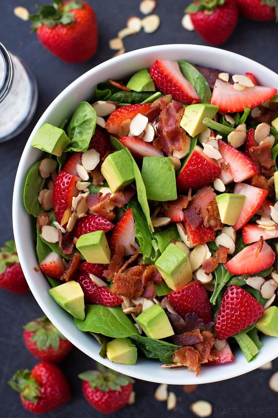 Strawberry Avocado & Spinach Salad