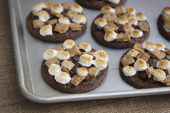 Chocolate S'mores Cookies