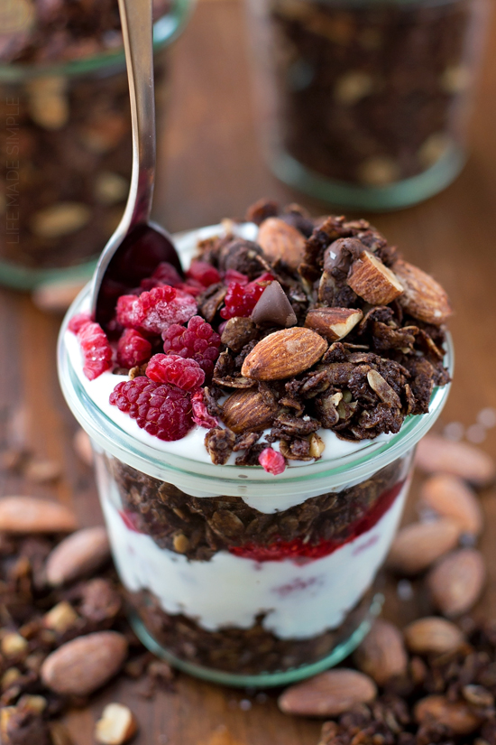 Salted Caramel Almond Brownie Granola