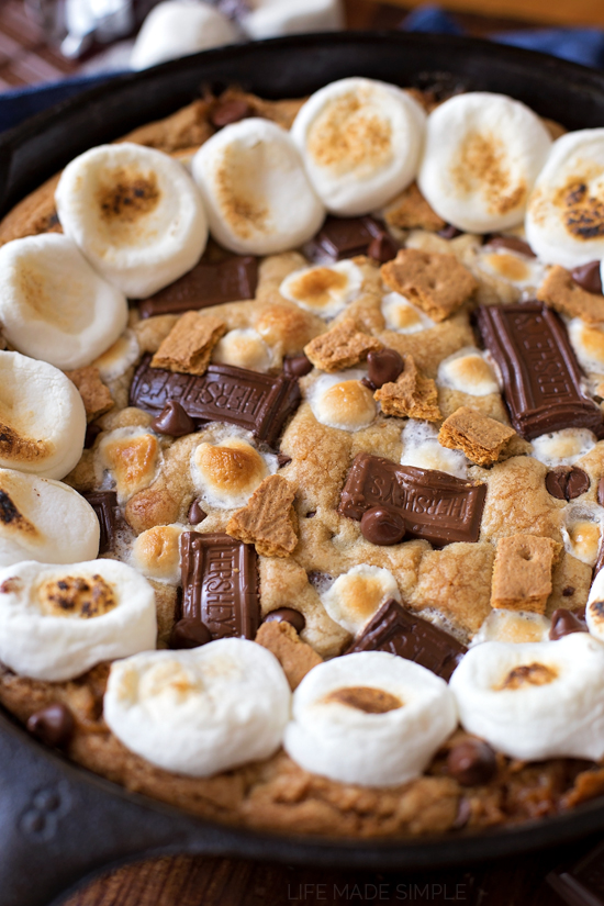 S'mores Skillet Cookie Cake