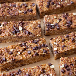 Healthy No-Bake Peanut Butter Chocolate Chip Granola Bars
