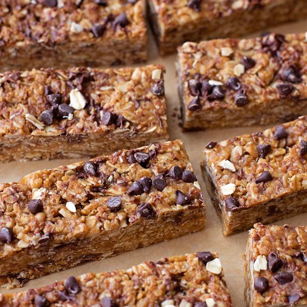 No Bake Peanut Butter Chocolate Chip Granola Bars Life Made Simple