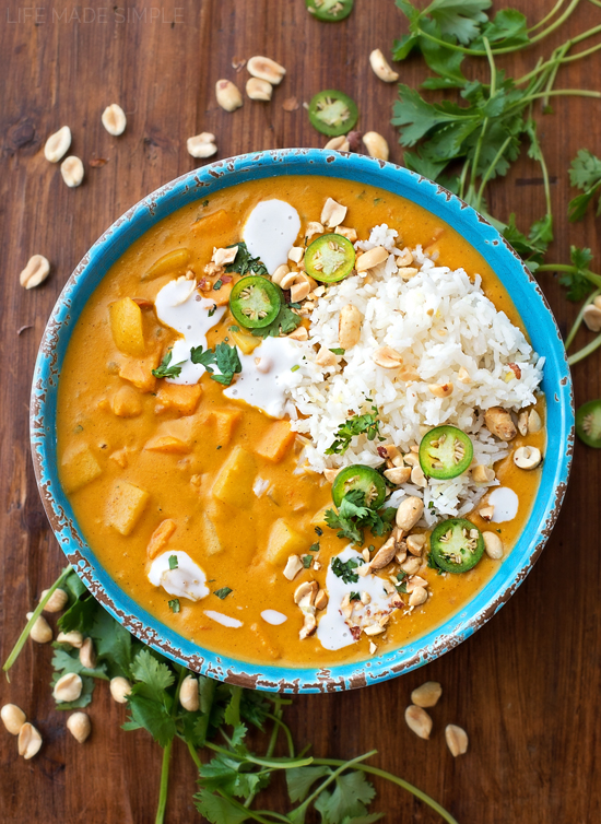 Sweet Potato curry recipe in bowl