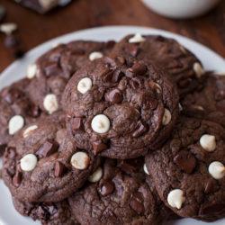 Triple Chocolate Cookies | lifemadesimplebakes.com