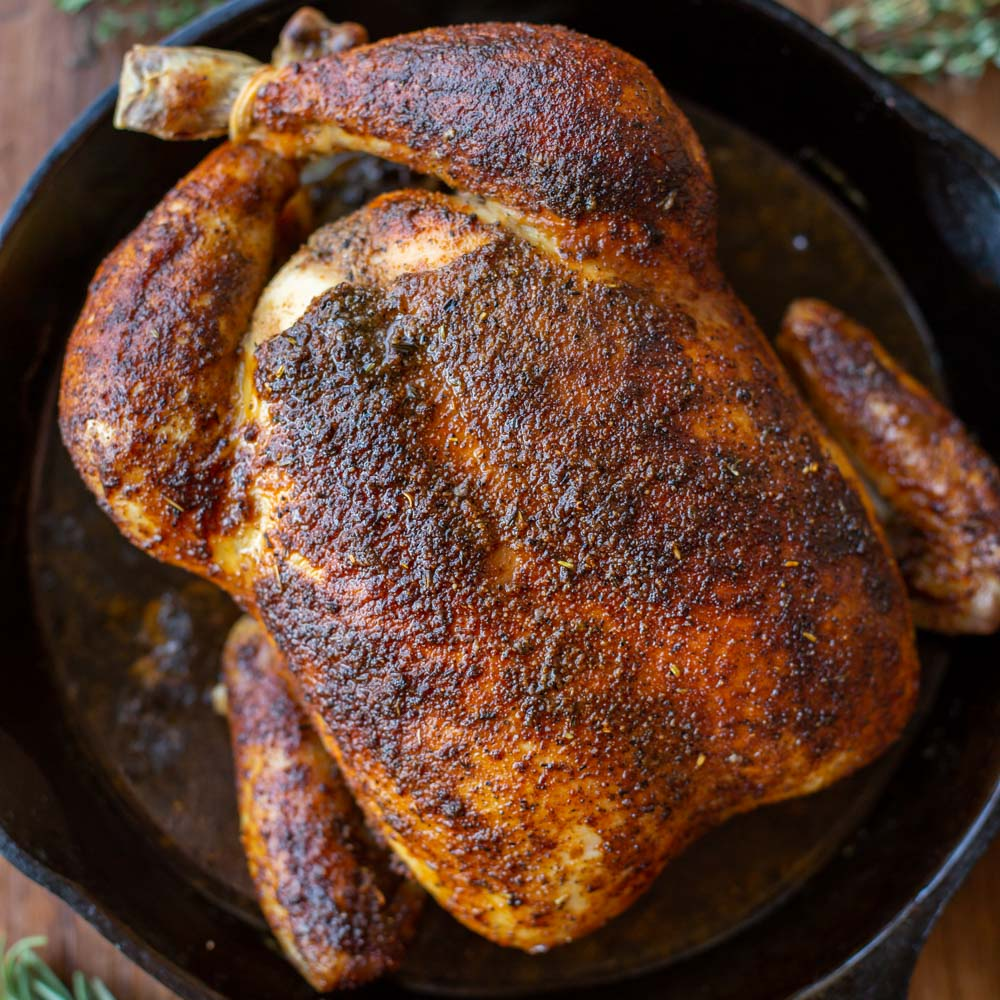 Rotisserie chicken recipe close up image