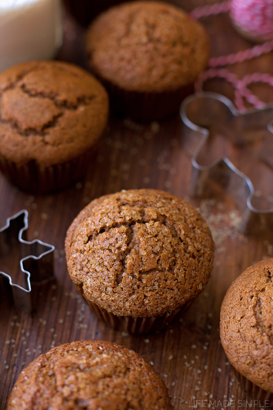 Gingerbread Muffins sprinkled with sugar