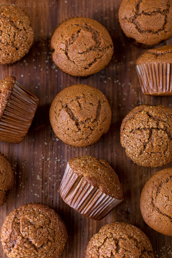 Several gingerbread muffins