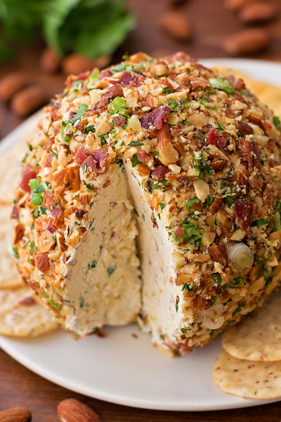 Smoked Bacon Ranch Cheese Ball | lifemadesimplebakes.com