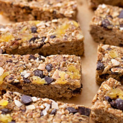 Dark Chocolate Tropical Granola Bars | lifemadesimplebakes.com
