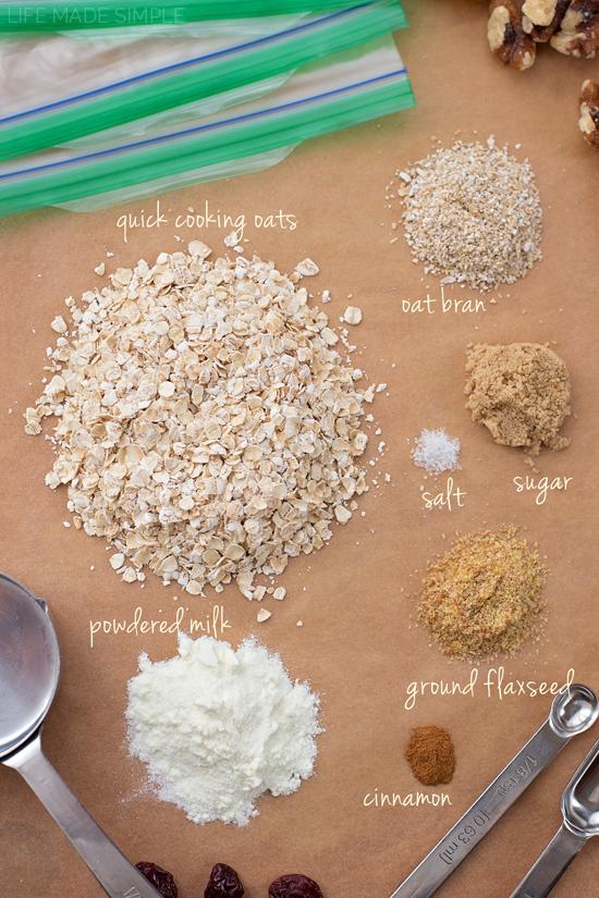 Homemade Instant Oatmeal   lifemadesimplebakes.com