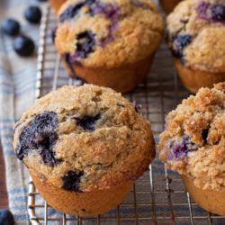Whole Wheat Blueberry Muffins | lifemadesimplebakes.com