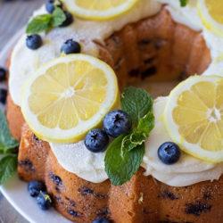 Blueberry Lemon Bundt Cake | lifemadesimplebakes.com