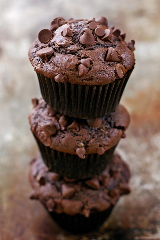 Double Chocolate Muffins | lifemadesimplebakes.com